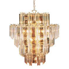 Bel Air Lighting Stewart 16-Light Beveled Acrylic Crystal Incandescent Ceiling Chandelier