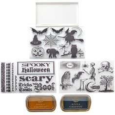 Anna Griffin® Halloween Clear Stamp Kit with 2 Ink Pads