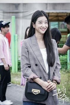"""""""SangMi smile showing"""" Ocn_Save Me finale Seoyeji Korean Actresses, Korean Actors, Actors & Actresses, Girl Actors, Seo Ji Hye, Business Casual Outfits For Work, Korean Shows, Instyle Magazine, Cosmopolitan Magazine"""