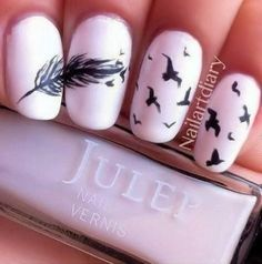 Bird #nails.. #Shop our nail decoration range here http://www.beautiesfactory.co.uk/nail-art-decorations.html