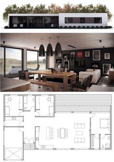 Beach cottage plan, beach house plan, home plan Sims House Plans, Beach House Plans, Dream House Plans, House Floor Plans, Contemporary House Plans, Modern House Plans, Small House Plans, Micro House Plans, Small House Design