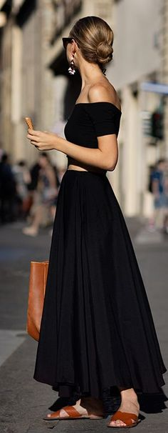 Black Off-the-shoulder Maxi Dress  # #Summer Trends #Fashionistas #Best Of Summer Apparel #Maxi Dress Off-The-Shoulder #Off-The-Shoulder Maxi Dress Black #Off-The-Shoulder Maxi Dress Must-Have #Off-The-Shoulder Maxi Dress 2015 #Off-The-Shoulder Maxi Dress Where To Get #Off-The-Shoulder Maxi Dress How To Style