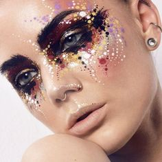 Linda Hallberg Avantgarde Augen Make-up Fashion Editorial Makeup, High Fashion Makeup, Makeup Inspo, Makeup Inspiration, Beauty Makeup, Beauty Art, Linda Hallberg, Crazy Makeup, Makeup Looks