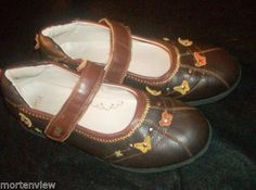 GIRLS-UMI-BROWN-PALEY-LEATHER-MARY-JANE-BUTTERFLY-SHOES-SIZE-36-US-4