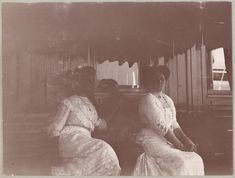 Their voices speaking clearer than the living.: Photo Maria and Alexandra on the Standart 1912