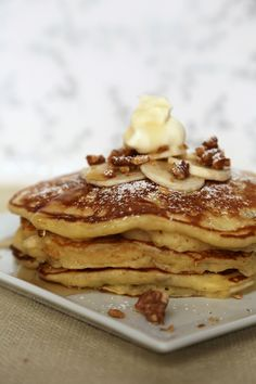 Banana Walnut Pancakes - I am having company and need to make these for breakfast