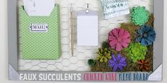 Make a Country Kitchen Chicken Wire Frame Memo Board with Faux Succulents Crafts With Glass Jars, Chicken Wire Frame, Glass Storage Containers, Pine Cone Crafts, Faux Succulents, Diy Bed, Bottle Crafts, Hand Warmers, Easy Diy