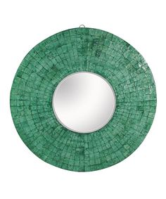 Look at this Green Emerald Cameron Round Mirror on #zulily today!