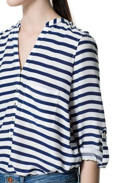 STRIPE PRINTED SHIRT - Stock clearance - Woman - Sale | ZARA United States