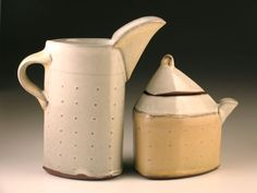 Sarah Pike | Pottery - pottery - creamers and other pouring vessels