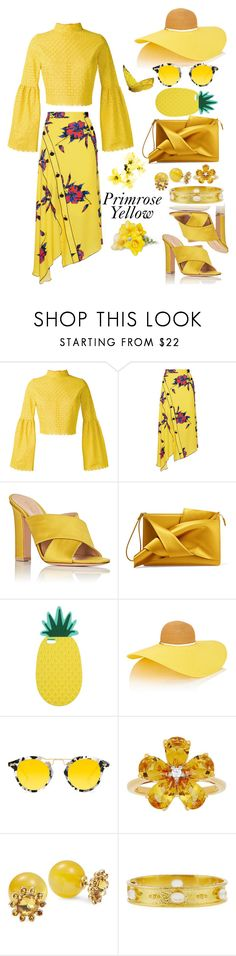 """""""Primrose Yellow - Color of Fashion"""" by allyssister ❤ liked on Polyvore featuring Daizy Shely, Proenza Schouler, Gianvito Rossi, N°21, Miss Selfridge, Eugenia Kim, Krewe, David Tutera, Kate Spade and Elizabeth Locke"""
