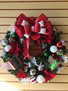 Beautiful Christmas WreathPresents WreathFireplace