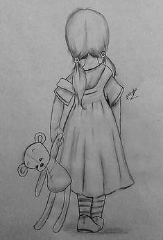 YENI ÇIZIM🎨MY NEW DRAWİNG🖌 Art Drawings Beautiful, Dark Art Drawings, Girly Drawings, Art Drawings For Kids, Art Drawings Sketches Simple, Cartoon Drawings, Easy Drawings, Disney Art, Cute Art