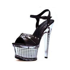 #FashionBug 6 Inch Womens High Heel Shoes Zipper Studded Detail Platform Sexy Sandals  www.fashionbug.us