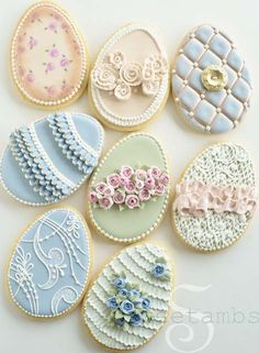 (26) Tumblr!!! Bebe'!!! Such Beautiful Easter Egg Cookies!!! Love the Decorative Designs on the Cookies!!!