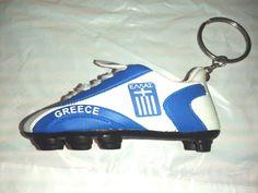 GREECE ΕΛΛΆΔΑ - Football / Soccer Mini Boot Key Ring Keychain