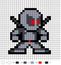 X-Force Deadpool perler bead pattern