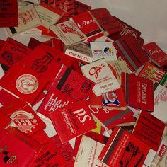 GRAB BAG lot Vintage paper ephemera random pick 20 Old Red advertising matchbook covers matches art supplies