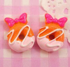 Minnie Mouse Doughnut Flat Back #Kawaii #Cabochon Beads #Decoden.