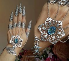 Ice Queen claw spike finger slave braceletMADE TO by Fairytas, €38.00