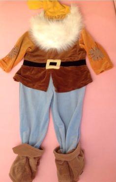 Snow White HAPPY Dwarf Costume Exclusive Ages 3 4 5 6 years Halloween #Disneystore #CompleteCostume