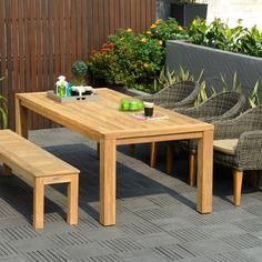 Stoły i krzesła : Guam - zestaw obiadowy z ławą technorattan - Sklep internetowy twojasiesta.pl