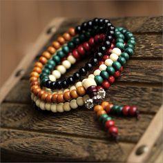 01 Buddhism Nepal Tibet sandalwood full japa mala beads charm beaded necklace/bracelet 216 beads by nepalesejewelry on Etsy https://www.etsy.com/listing/119056692/01-buddhism-nepal-tibet-sandalwood-full