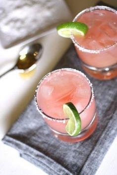 Grapefruit Margarita:  1/4 cup fresh ruby red grapefruit juice, 3 tbsp fresh lime juice, 1 tbsp agave nectar, 1.5 oz blanco tequila, 1 oz Cointreau