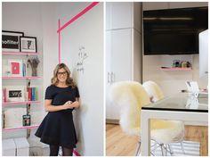 Office fashion: branco   cinza   pink