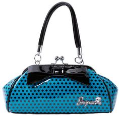 Sourpuss Floozy Purse Blue Polka Dot -- Continue to the product at the image link.