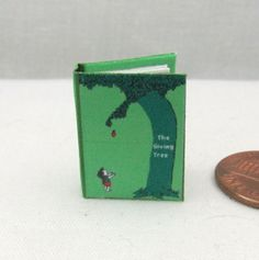 THE GIVING TREE Miniature Book DOLLHOUSE 1:12 Scale READABLE ILLUSTRATED #LittleTHINGSofInterest
