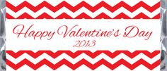 Chevron Pattern Valentine's Day Candy Bar Wrappers