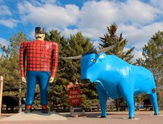 Minnesota Legends-Paul Bunyan and his blue ox Babe
