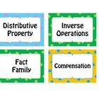 This is a set of vocabulary words to accompany the 4th grade Envision Math series. These can be used for a Math Word Wall.  Have students write...