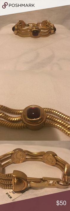 Brighton Bracelet Gold and burgundy bracelet from Brighton's Versailles Collection Brighton Jewelry Bracelets