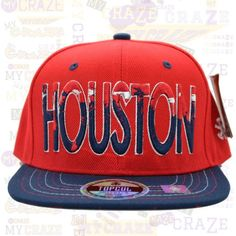 TopCul Urban Hip Hop Rap Streetwear Hat Dripped Houston Snapback Cap – MyCraze