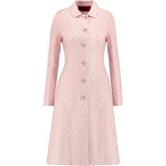 Missoni Belted crochet-knit and crepe trench coat (27 975 UAH) ❤ liked on Polyvore featuring outerwear, coats, jackets, 02 jacket, coats & jackets, pastel pink, trench coats, pastel coat, pink trench coats and crochet coat