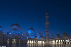 The Sheikh Zayed Grand Mosque is considered to be one of the key places of worship in the United Arab Emirates  From Abu Dhabi's Grand Mosque to America's haunting Alcatraz Island: The 10 must-visit landmarks around the world according to travellers  Read more: http://www.dailymail.co.uk/travel/travel_news/article-3109043/The-10-visit-landmarks-world-revealed.html#ixzz3dNbTefwj Follow us: @MailOnline on Twitter | DailyMail on Facebook