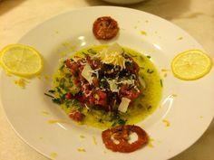 Tartare bœuf provençal