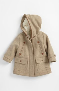 Chloé Wool Blend Hooded Coat (Toddler) | Nordstrom