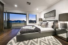Upstairs Master-suite retreat with balcony and exceptional sunset views!