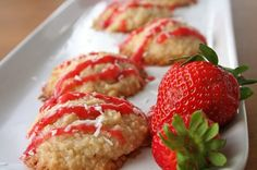 Clean Macaroons with Coconut Strawberry Glaze - Absolutely Delicious