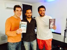 Imagen final con Álvaro Escobar y Francisco Eguiluz