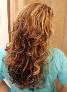curly hair by using a sock.