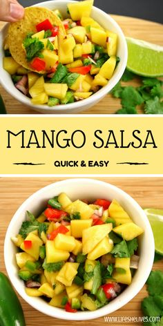 Mango Salsa | Snacks | Easy Appetizers | Toppings