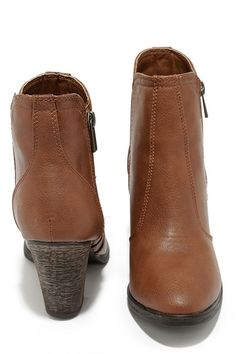 18373d53bad Straight Up Now Chestnut Brown High Heel Ankle Boots