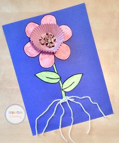 This is a fun activity for the kids to create after learning about plant parts. Using real objects makes them remember so much better!