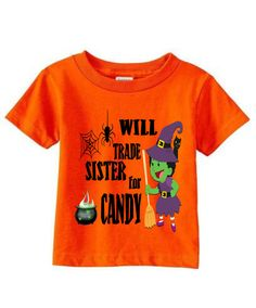 Halloween Tee, Toddler Shirts, Graphic kids shirts, Exclusive shirts, Vampire Shirt, Zombie Shirt, Will Trade, Candy, Kids Tee, Witch by jilovalcustoms on Etsy