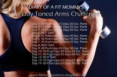 Diary of a Fit Mommy: Diary of a Fit Mommy's 14 Day Toned Arms Challenge