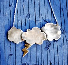 Custom Made Silver Lining Necklace by RachelPfefferDesigns on Etsy